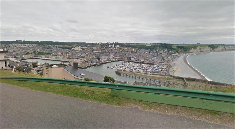 Le corps sans vie du quadragénaire a été retrouvé au pied de la falaise en contrebas du sémaphore de Cap Fagnet (Illustration © Google Maps)