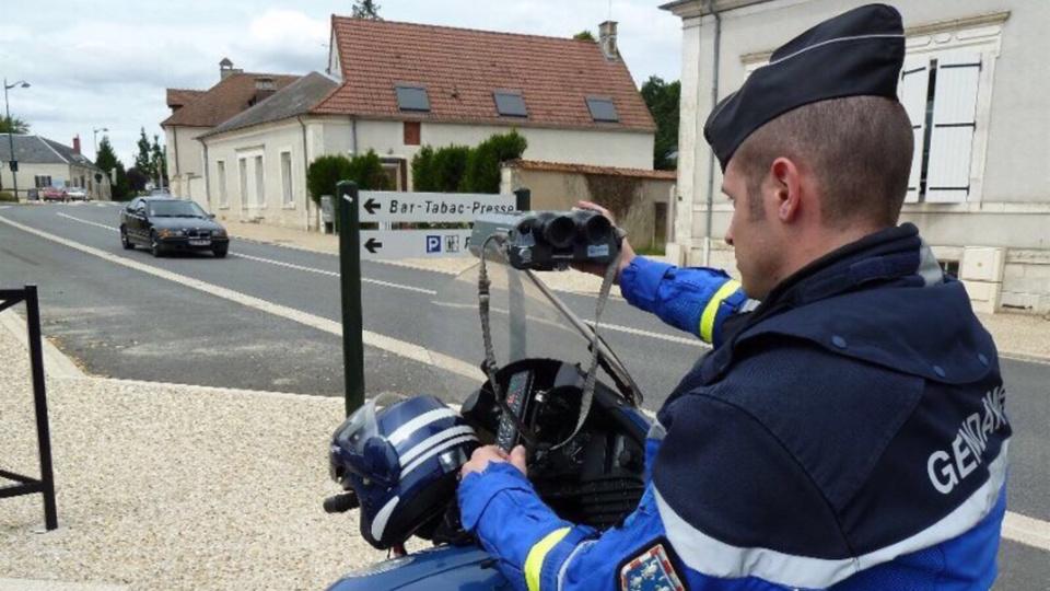 Un motard a été contrôle en excès de grande vitesse à 148 km/h dans une zone limitée à 90km/h (illustration)