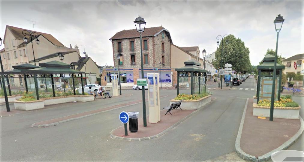 Gare routière des Clayes-sous-Bois (illustration © Google Maps)