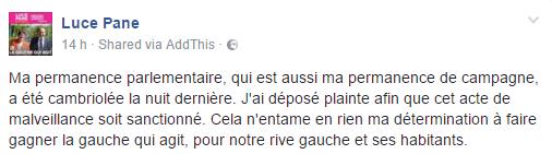 La permanence de la candidate socialiste Luce Pane cambriolée à Sotteville-lès-Rouen