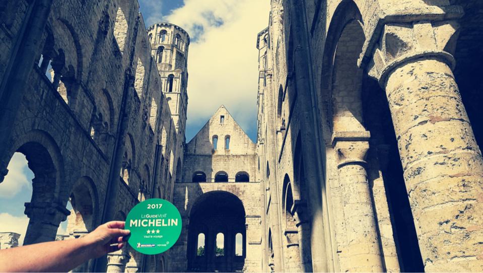 L'Abbaye de Jumièges (Seine-Maritime) vient d'obtenir 3 étoiles au Guide Vert Michelin 2017