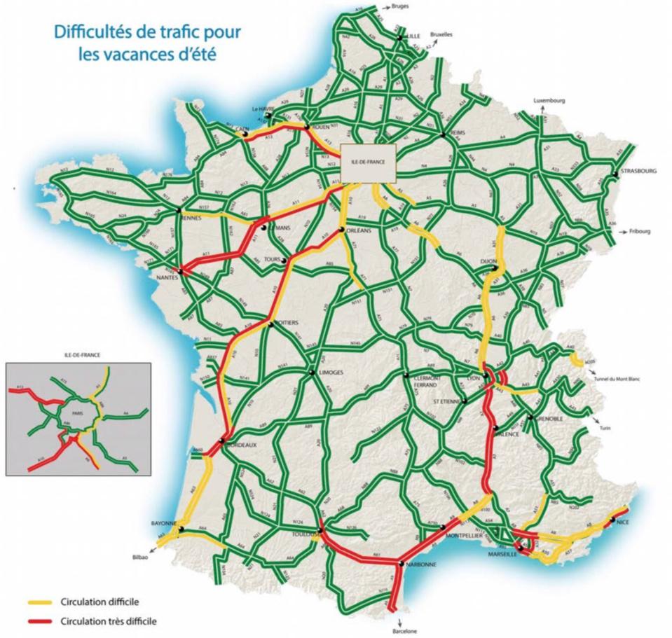 Week-end du 14 juillet : la route des départs en rouge au niveau national dès jeudi