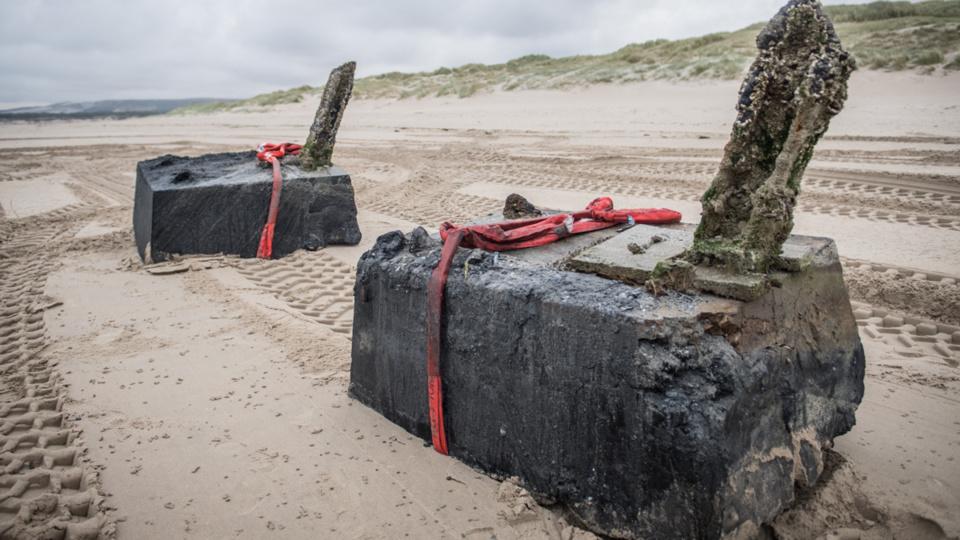 Opération de contre-minage sur la plage du Touquet-Paris-Plage ce matin dans le Pas-de-Calais