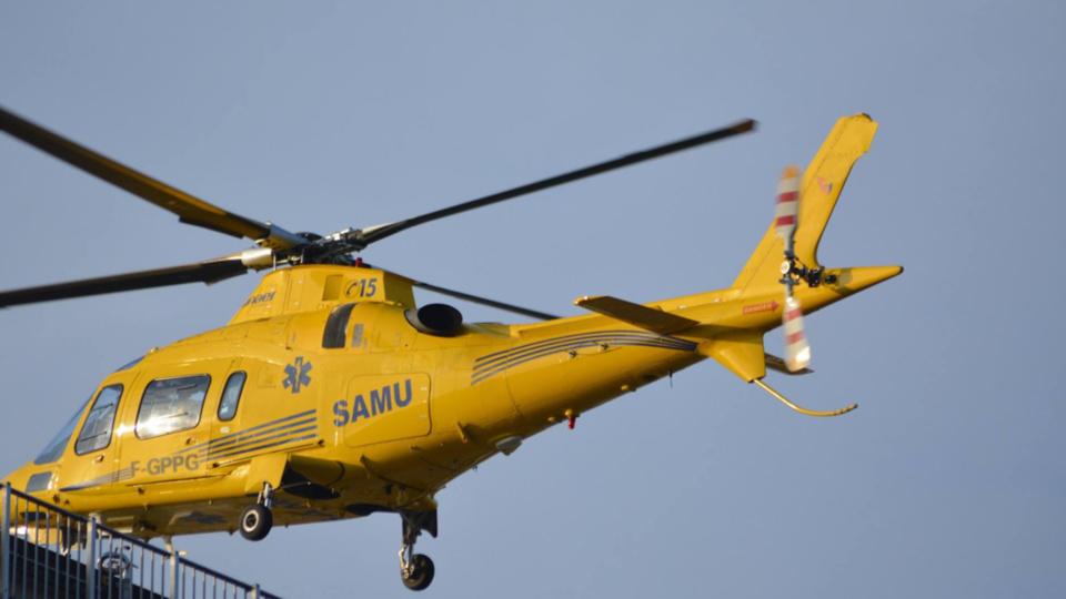 L'enfant a été évacué à bord de l'hélicoptère du SAMU 76 vers le CHU de Rouen (Illustration)