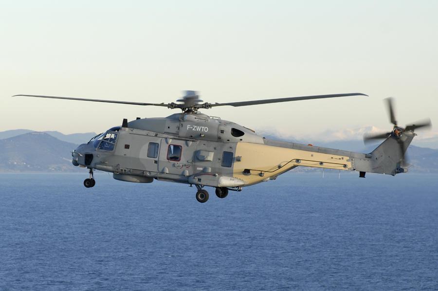 L'hélicoptère de la Marine nationale a participé aux recherches (Photo ©Défense nationale)