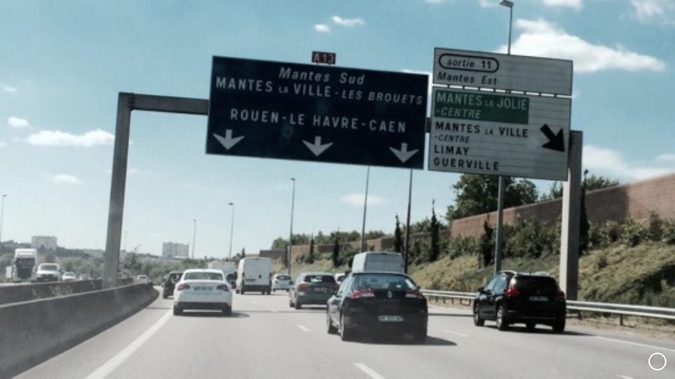 Le trafic devrait être soutenu sur l'autoroute A13 pour ce long week-end du 15 août (illustration @infonormandie)