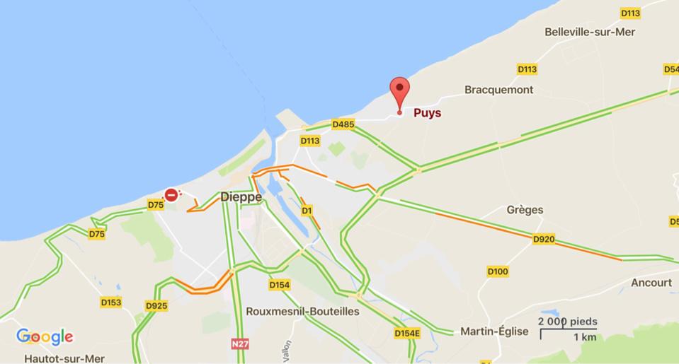 Dieppe : un bateau-promenade chavire près de la plage de Puys, trois de ses occupants légèrement blessés