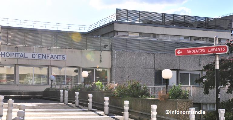 Les deux enfants ont été conduits aux urgences pédiatriques du CHU de Rouen pour un examen (Photo ©infonormandie)