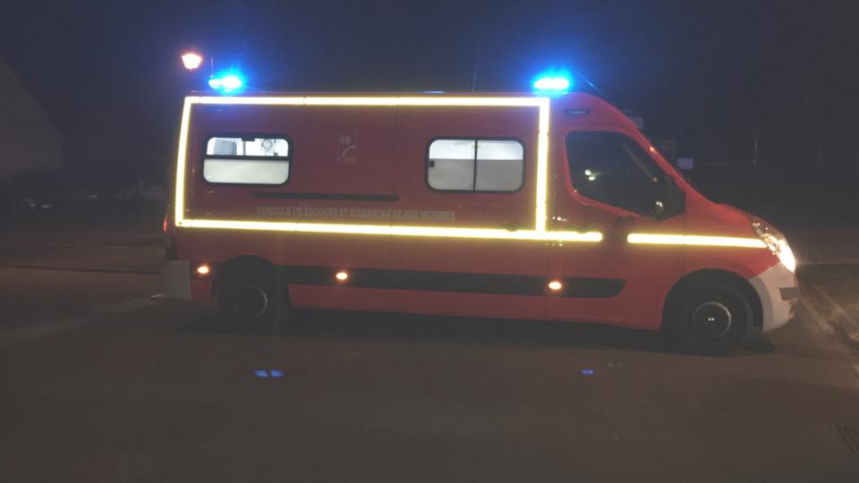 Le jeune motard a été conduit à l'hôpital par les pompiers (Illustration @Infonormandie)