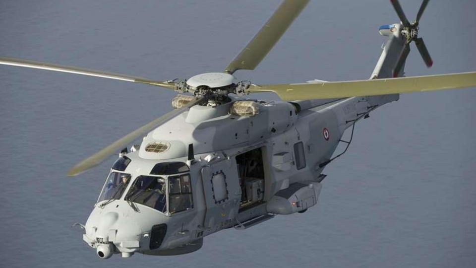 Le matin a été évacué à bord de l'hélicoptère Caïman de la Marine nationale vers l'hôpital Havrais (illustration)