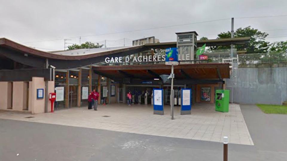La gare d'Achères ville (illustration @ Google Maps)