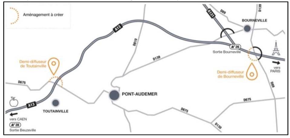 Amélioration de la desserte A13 à Pont-Audemer : deux réunions publiques prévues