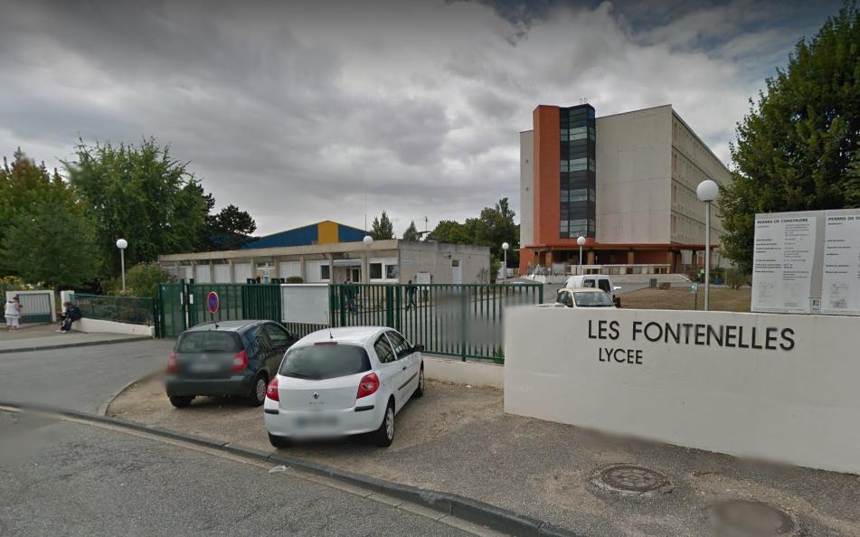 Les incidents se sont déroulés devant le lycée Les Fontenelles (Illustration © Google Maps)