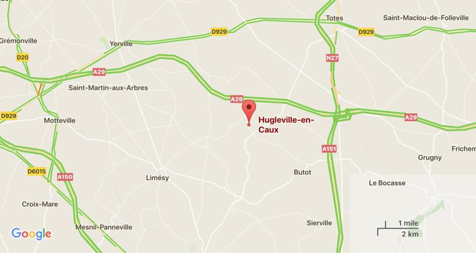 Face-à-face sur la D22 à Hugleville : un mort, deux blessés dont un enfant de 8 ans