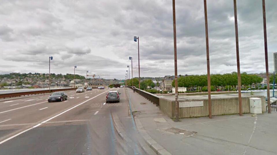 L'accident est survenu sur le pont Guillaume Le Conquérant (Illustration)