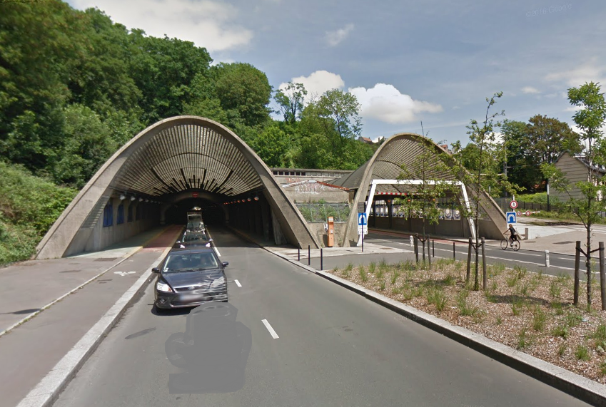 Le tunnel supporte un trafic de 10 000 véhicules par jour (Illustration © Google Maps)