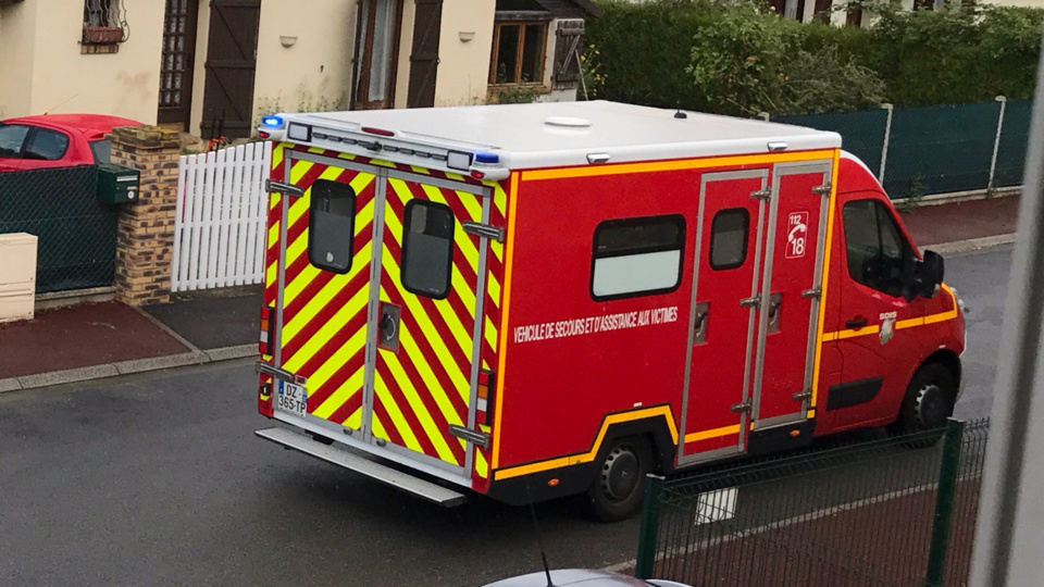 La victime a été transportée à l'hôpital pour examen (illustration @ infonormandie)
