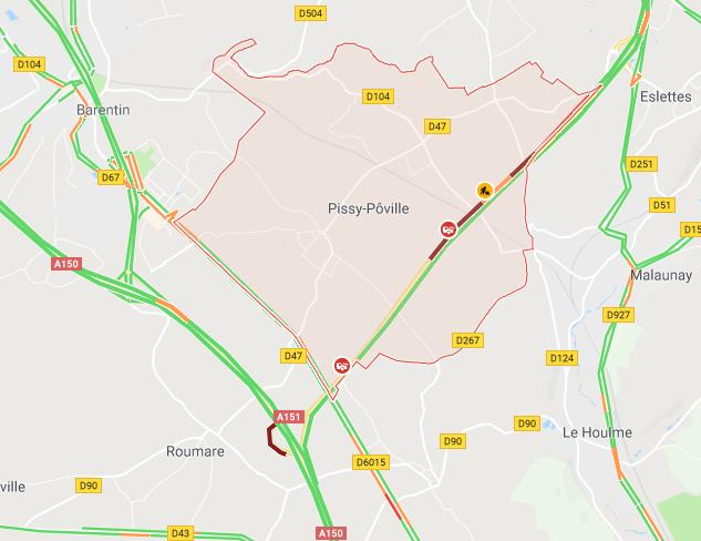 Seine-Maritime : un camping-car s'encastre dans un poids-lourd sur l'A151 en direction de Rouen