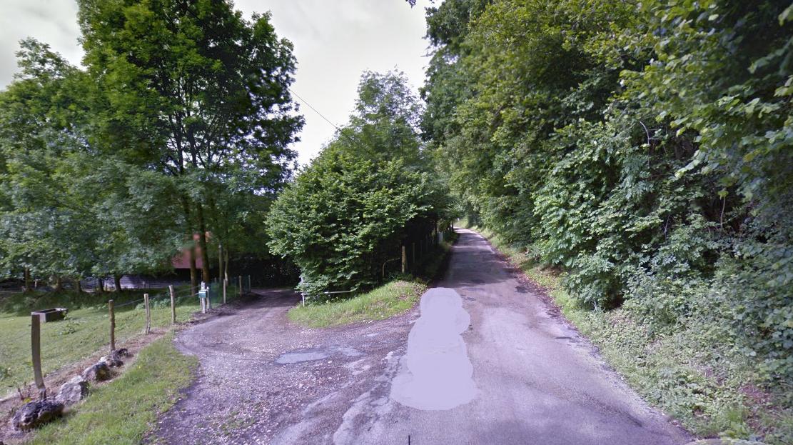 """C""""'est dans un chemin sinueux de ce massif boisé, rue du Val Infray, que le cavalier a trouvé la mort accidentellement (Illustration © Google Maps)"""