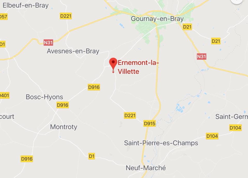 Seine-Maritime : un blessé léger dans la voiture sur le toit près de Gournay-en-Bray