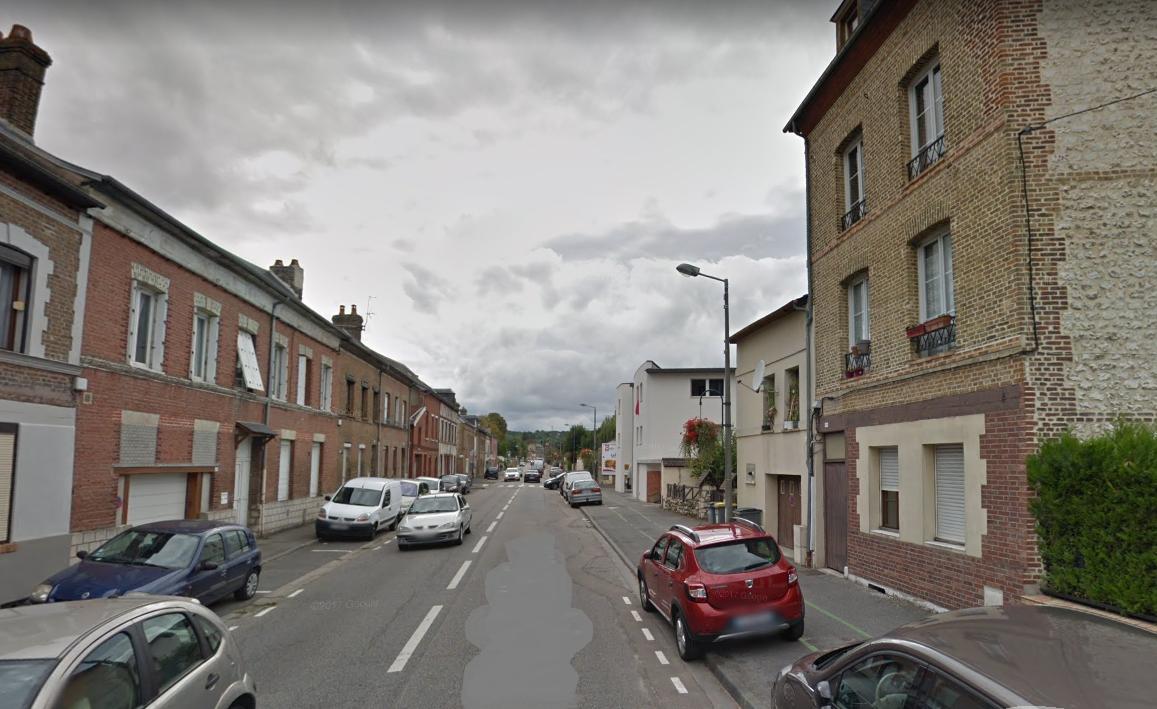 Rue Félix Faure à Caudebec-lès-Elbeuf © Google Maps
