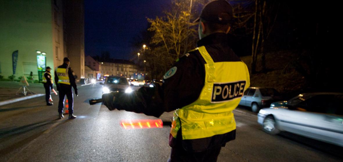 Le conducteur en infraction a été soumis à un dépistage d'alcoolémie lors d'un banal contrôle routier, au Havre (Illustration © DGPN)