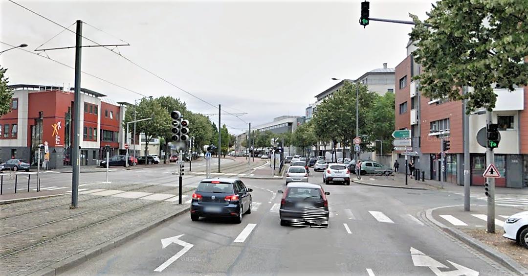 L'accident s'est produit à ce carrefour dans des circonstances qui restent à préciser (Illustration © Google Maps)