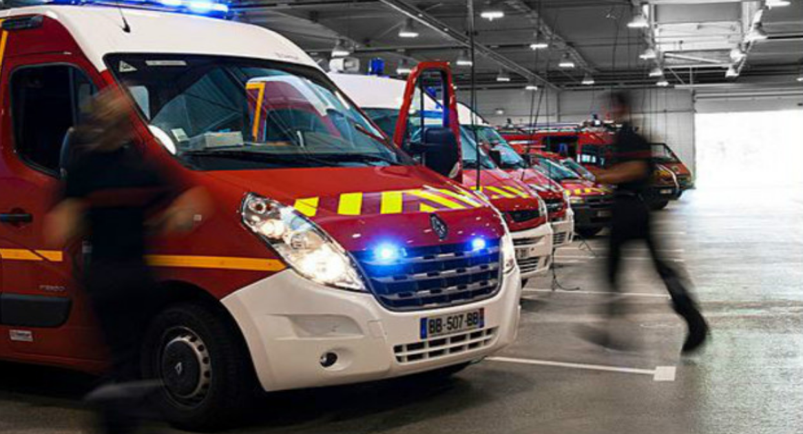 Quatre ambulances ont été dépêchées sur le lieu de l'accident qui a fait six blessés (Illustration © D.R.)
