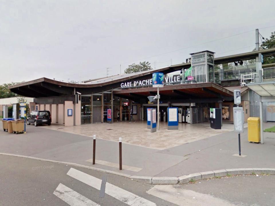 La gare d'Achères