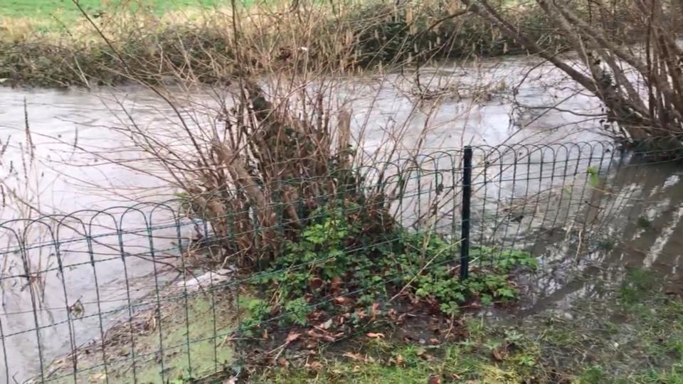 Les affluents de l'Eure débordent eux aussi par endroits (Photo © infonormandie)
