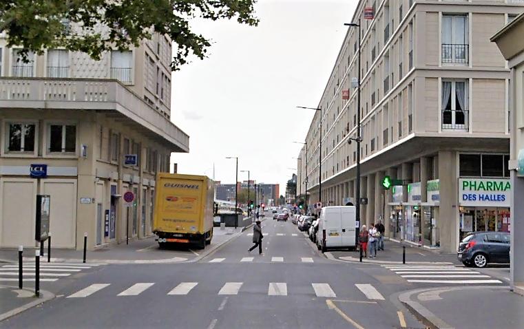 Le drame s'est produit sur un passage réservé aux piétons rue Voltaire (Illustration © Google Maps)
