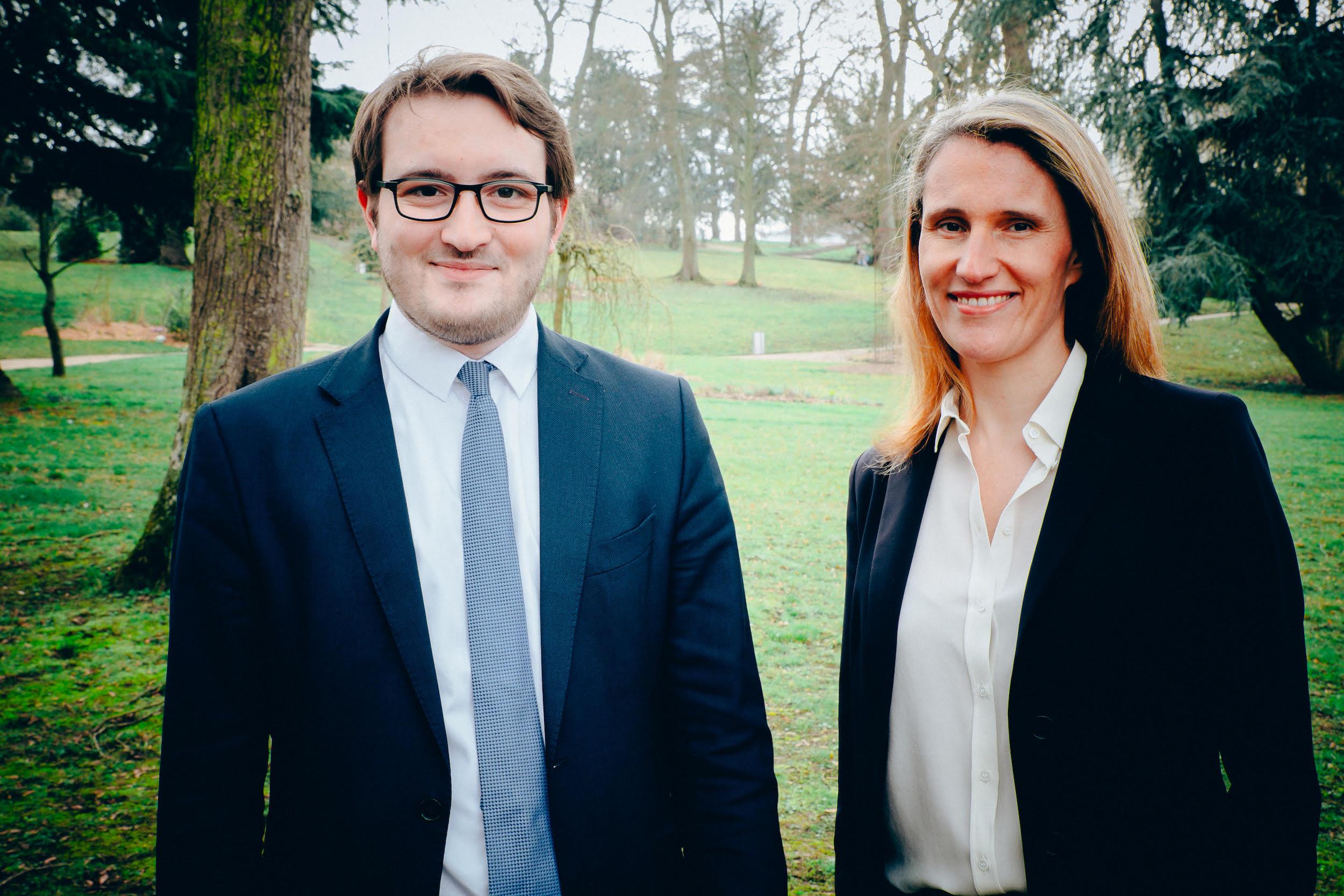 Catherine Delalande et Alexandre Rassaërt, secrétaire Départemental (Photo © D. R.)