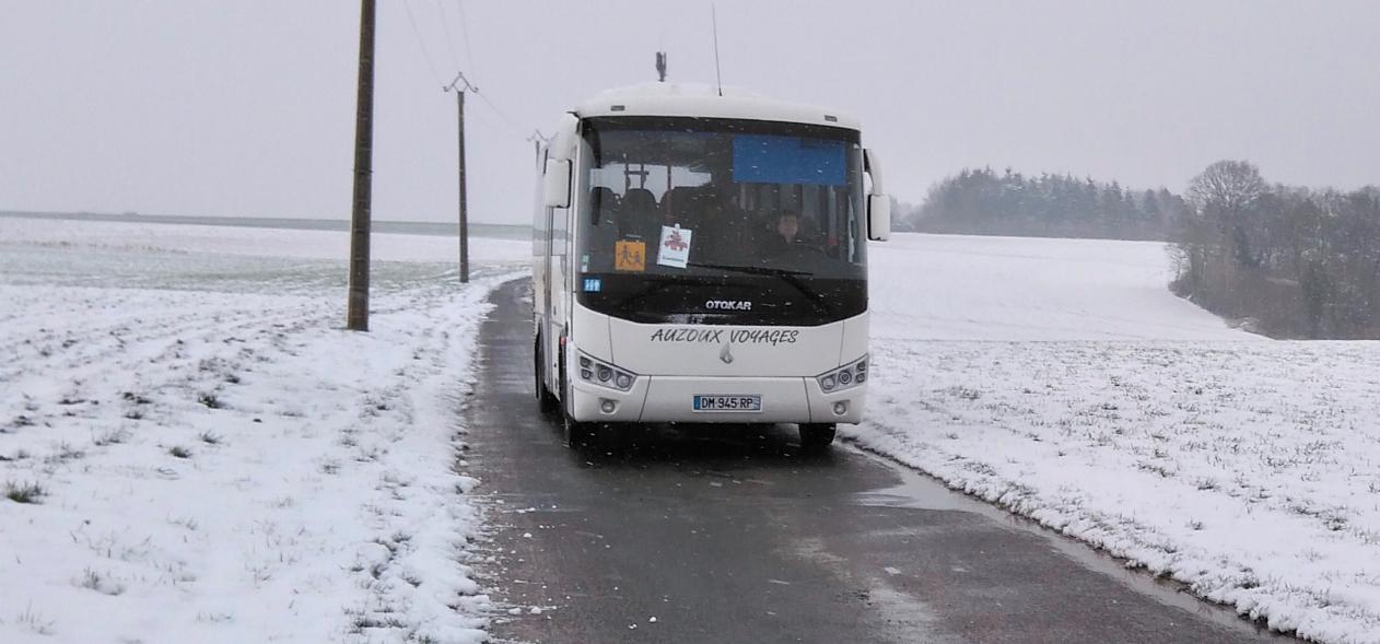 Les bus de ramassage scolaire ne circuleront pas partout ce mercredi dans le département de l'Eure (Photo © S. B. / infonormandie)