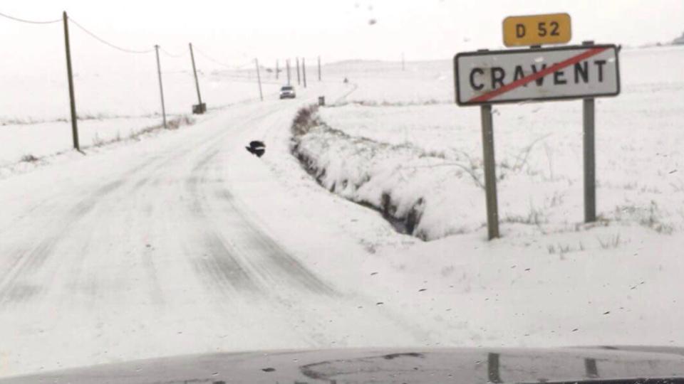 Dans l'Eure et les Yvelines, les routes étaient difficilement praticables ce matin (Photo © V. L. / infonormandie
