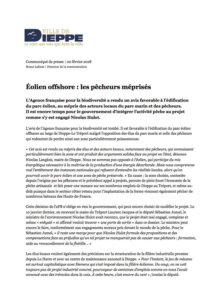 Parc éolien de Dieppe - Le Tréport : feu vert de l'Agence française de la biodiversité