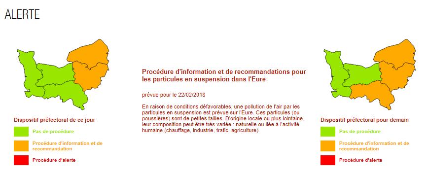 Pollution aux particules en suspension : la Seine-Maritime, l'Eure et l'Orne en alerte