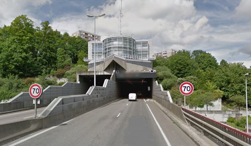 Le tunnel de la Grand'Mare à Rouen fermé temporairement pour des travaux