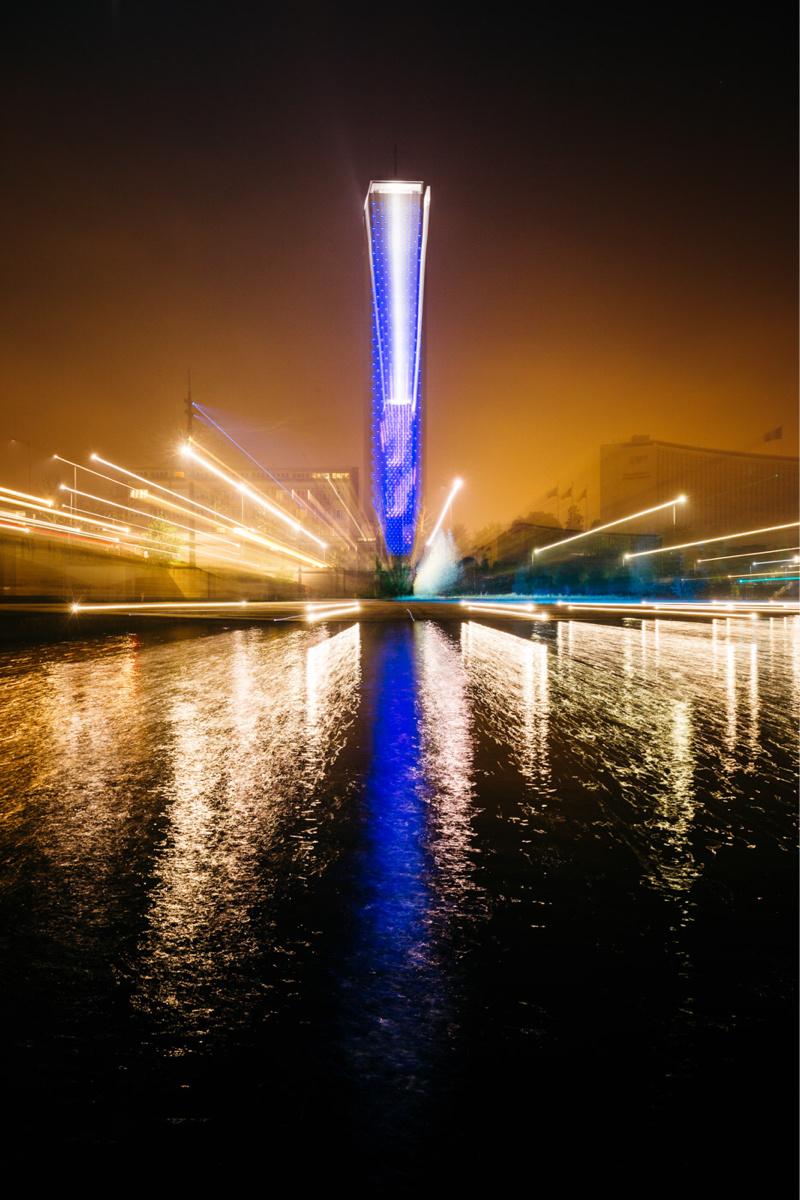 La Tour des archives sera habillée de bleu (Photo © Alan Aubry - Département de la Seine-Maritime)