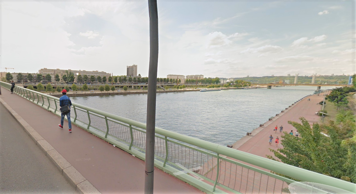 Un témoin a aperçu la jeune femme se jeter dans la Seine (Illustration © Google Maps)
