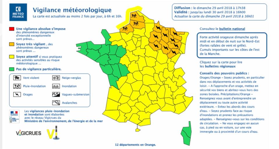 Météo : la Seine-Maritime placée en vigilance orangepour «pluies et inondations »