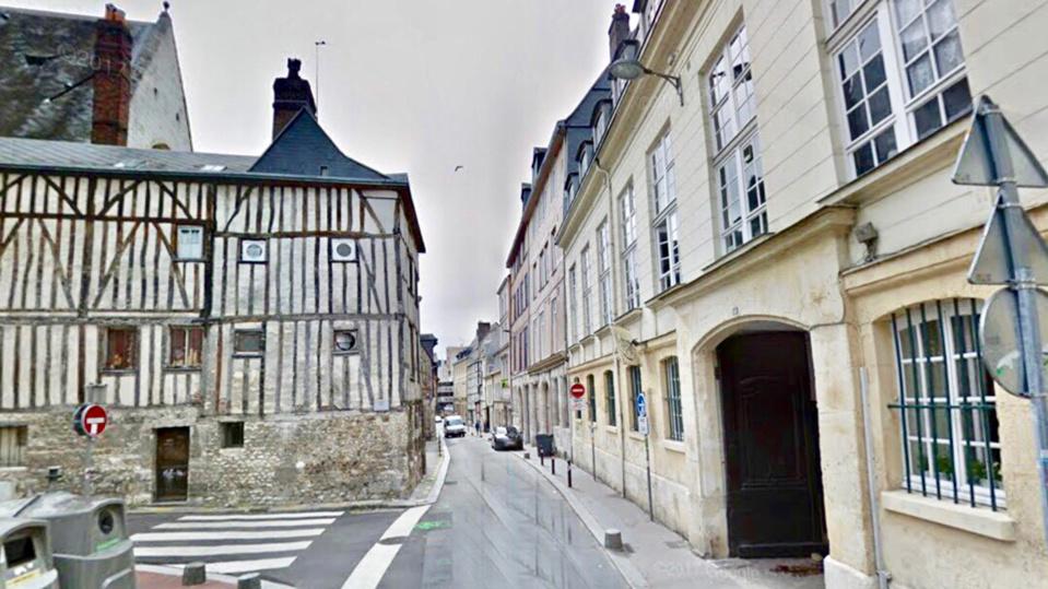 La rue des Tanneries a Meulan - Illustration @ Google Maps