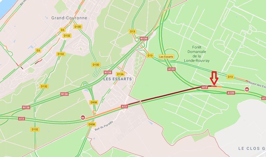 Autoroute A 13 : six blessés dans un carambolage provoqué par un premier accident, en Seine-Maritime