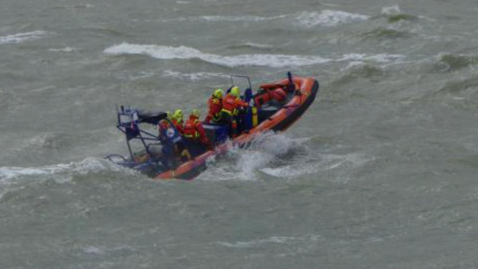 Les promeneurs ont été secourus par les sauveteurs en mer de la SNSM de Berck-sur-Mer - Illustration @ SNSM Berck-sur-Mer