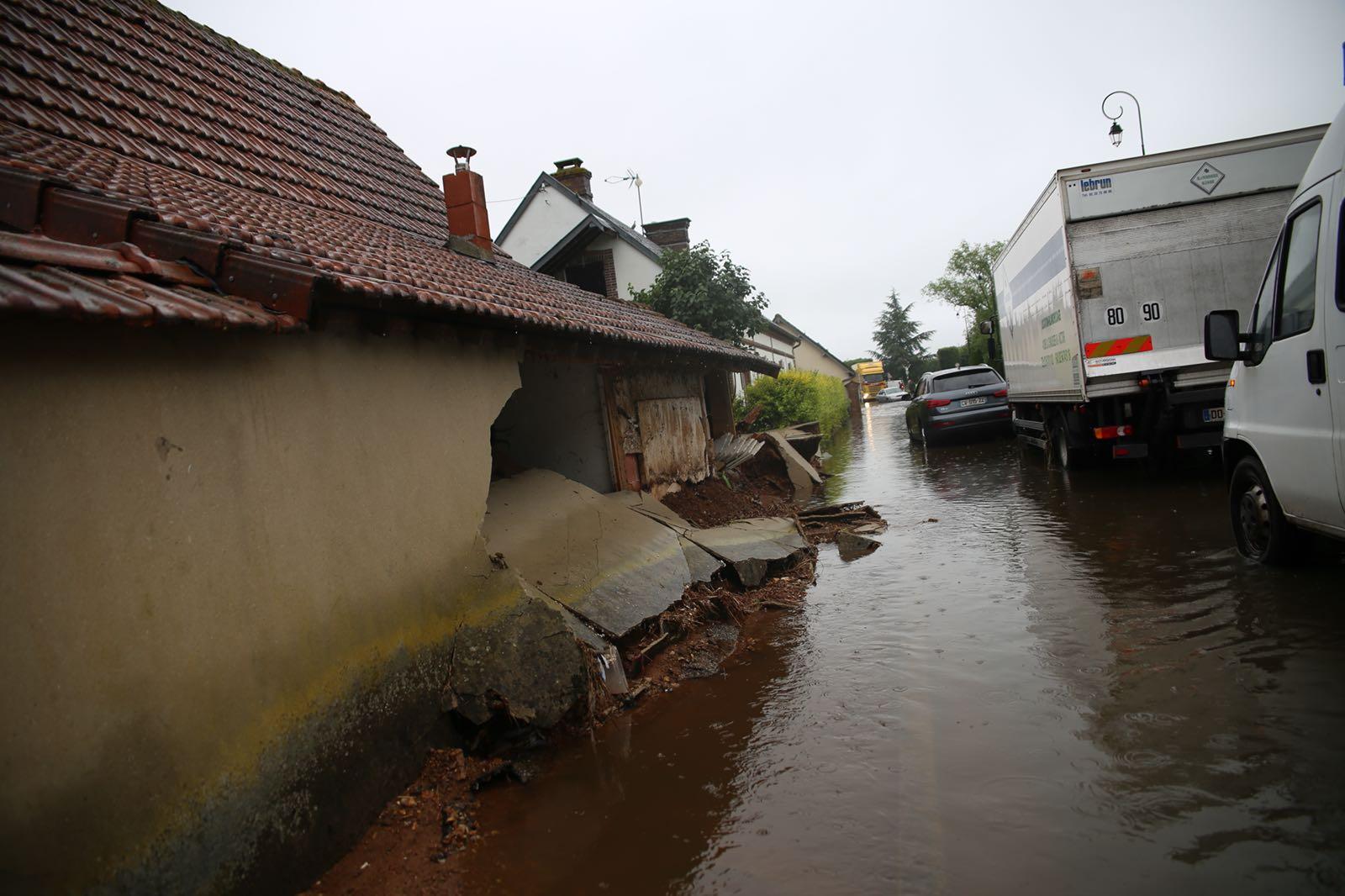 Les dégâts sont importants par endroits  - Photo © Département 27