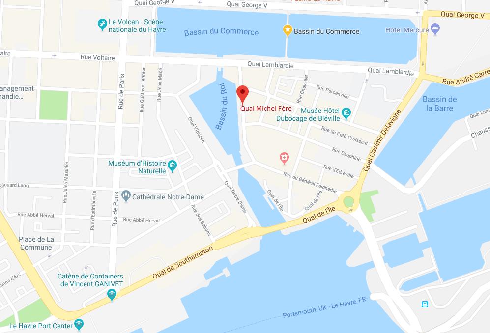 Seine-Maritime : un homme repêché dans un bassin au Havre, grièvement blessé après une chute de 5 m