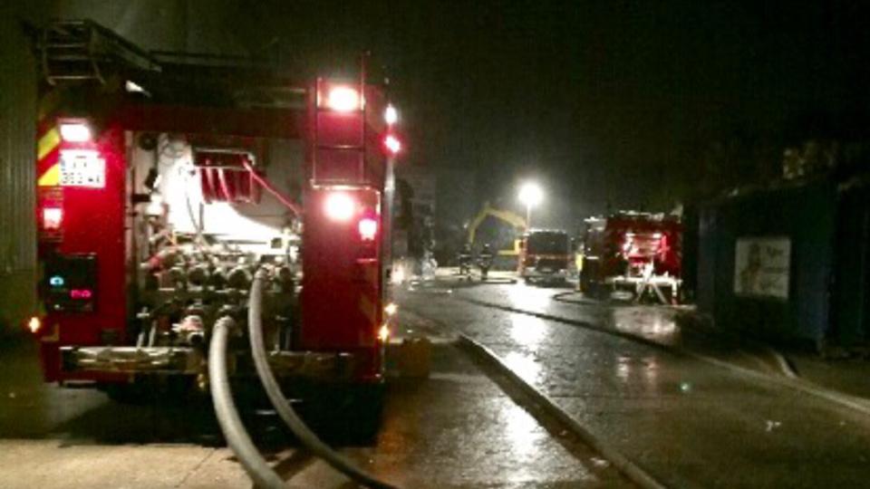 Huit engins de secours et de lutte contre l'incendie ont été mobilisés - Illustration
