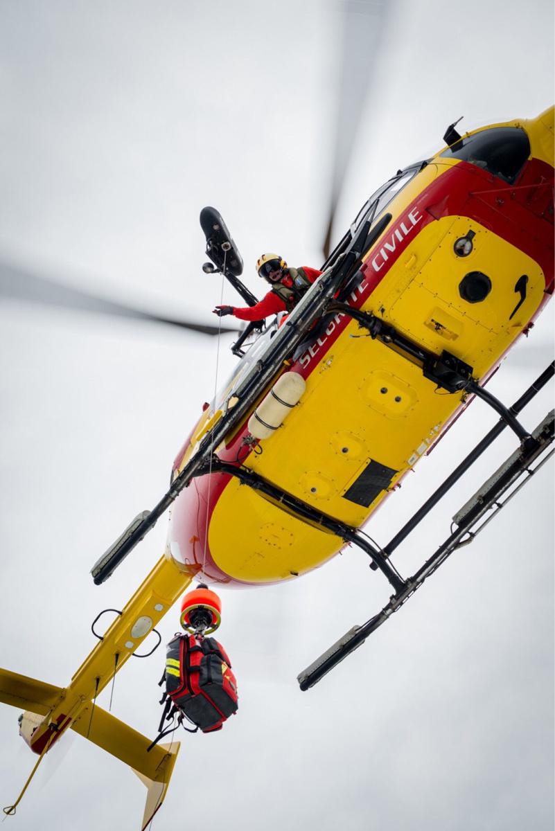 Les enfants ont été récupérés par l'hélicoptère de la sécurité civile - Photo @ Préfecture maritime