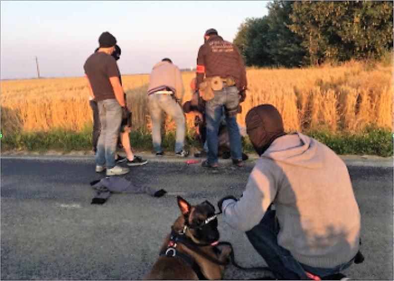 Les malfaiteurs ont été neutralisés sur une route en rase campagne dans l'Eure - Photo © Gendarmerie