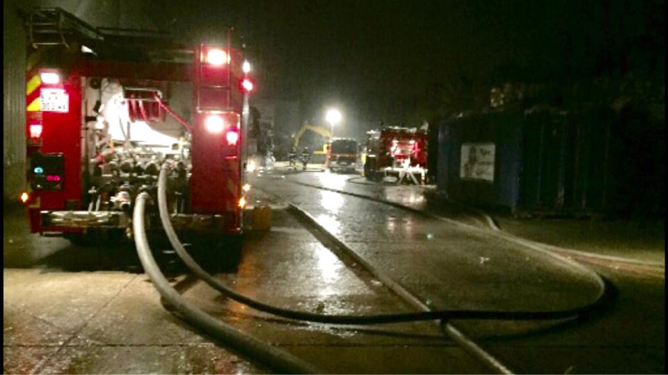 75 sapeurs-pompiers et 20 engins ont été mobilisés sur les les lieux du sinistre -Illustration © infonormandie