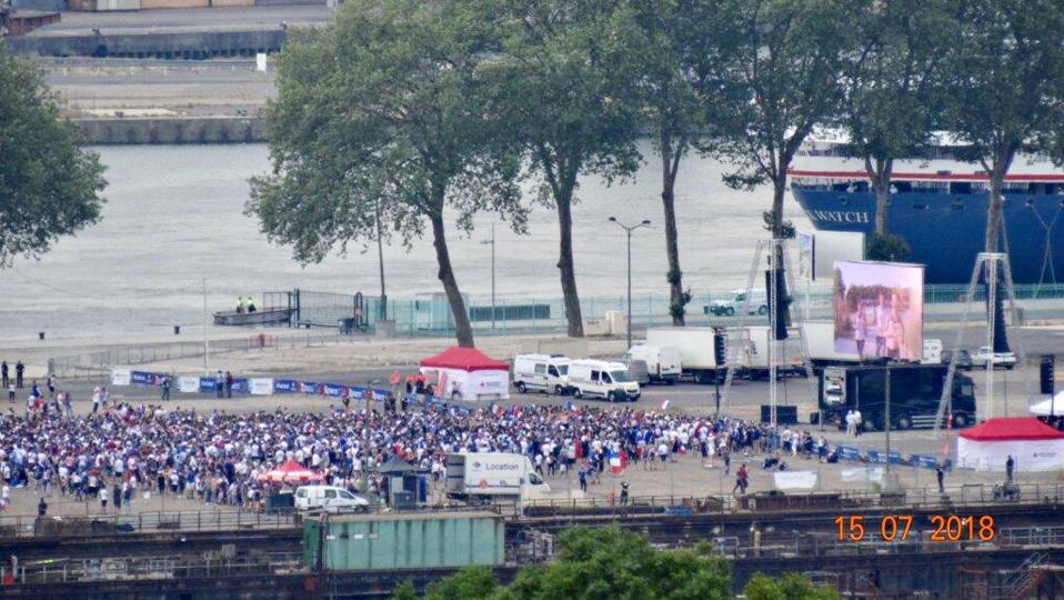 Plusieurs milliers de supporters des Bleus sont attendus sur la fan zone de l'esplanade Saint-Gervais à Rouen - Photo d'un lecteur